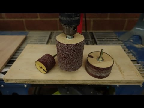 Make A Drill Spindle Sander. Easy Replaceable Sand Paper
