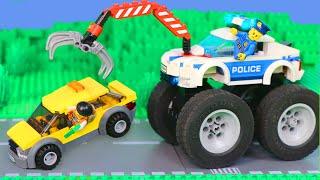 LEGO Prison Break - Film pour enfants avec des voitures de police - Toys film with police cars