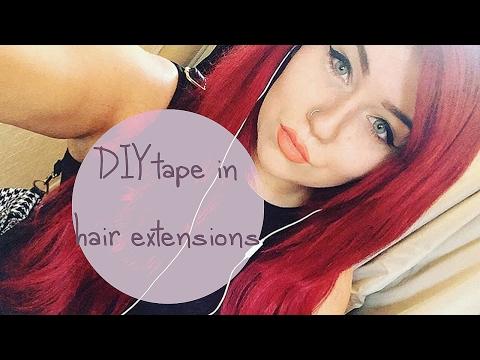 DIY TAPE IN HAIR EXTENSIONS