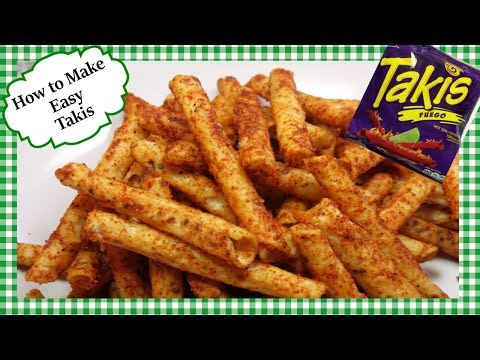 How To Make TAKIS Fuego ~ Takis SPICY Rolled Tortilla Chip Snack Recipe