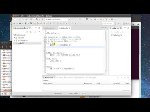 C Makefile Project in Eclipse under Linux
