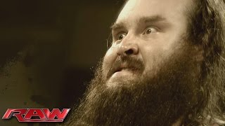 "An unsettling look at ""The New Face of Destruction,"" Braun Strowman: Raw, October 12, 2015"