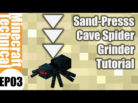 [New Mechanics] Cave Spider Grinder XP Farm 1.9 - Spider Press | Minecraft 1.9