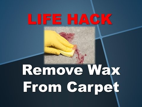 Life Hack -- How to Remove Wax from Carpet