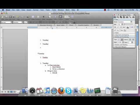 How to use bulleted and numbered lists in Microsoft Word on a Mac