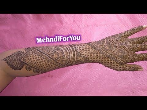 simple mehndi designs for bride back hand