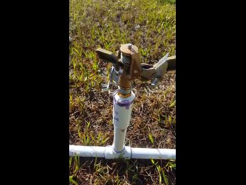 DIY PVC movable sprinkler irrigation system