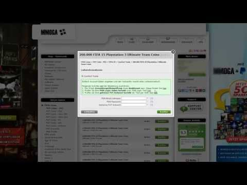 MMOGA FIFA Coins mit Comfort Trade - Schritt 2: PSN Logindaten prüfen