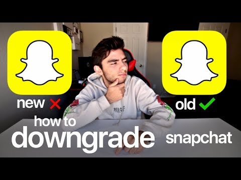 How To Get The Old Snapchat Back?