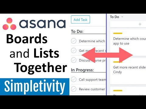 How to Use Asana Boards with Lists (Tutorial)