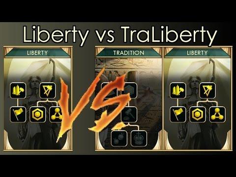 Civilization 5 Liberty vs TraLiberty test