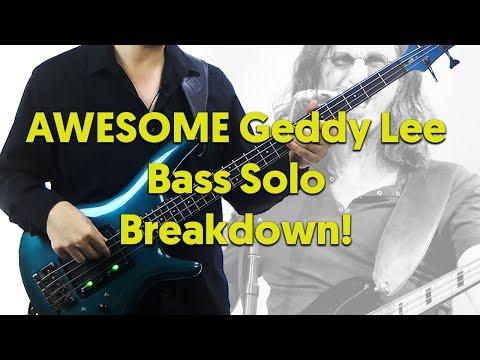 Awesome Geddy Lee Bass Solo Lesson - La Villa Strangiato