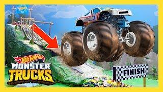 MONSTER TRUCК БЕСПОРЯДОК НА ГОРНОЙ ГОНКЕ   Monster Trucks: 1 серия   Hot Wheels