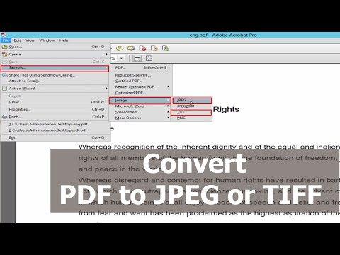 PDF Tutorial- Convert JPEG or TIFF images to PDF by using Adobe Acrobat Pro