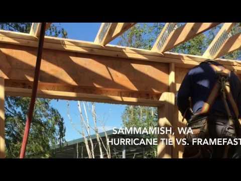 FrameFAST vs. Hurricane Tie for Truss Uplift