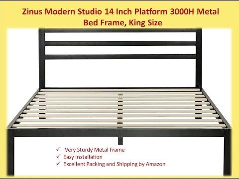 Zinus Modern Studio 14 Inch Platform 3000H Metal Bed Frame,King