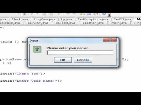 JOptionPane - Java Basics