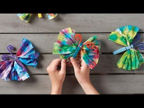 How To Tie Dye Tissue Paper Butterflies
