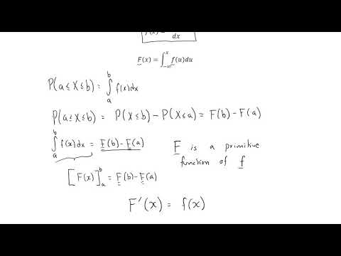 Continuous random variable, probability density function vs cumulative distribution function