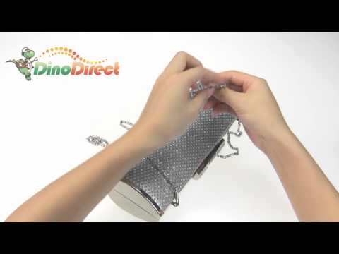 Fashion Women Metal Frame Rounded Evening Clutch Bag  from Dinodirect.com