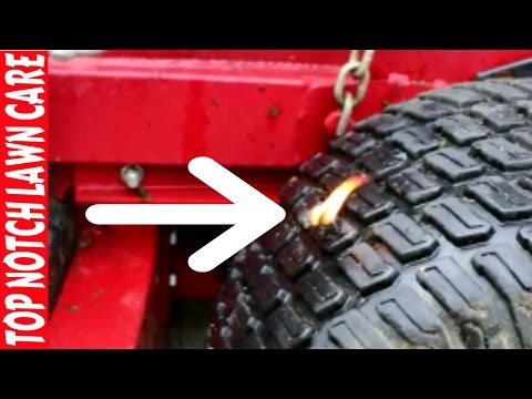 Lawn Mower Tire on Fire, How To Fix Flat Tires, Vlog #115