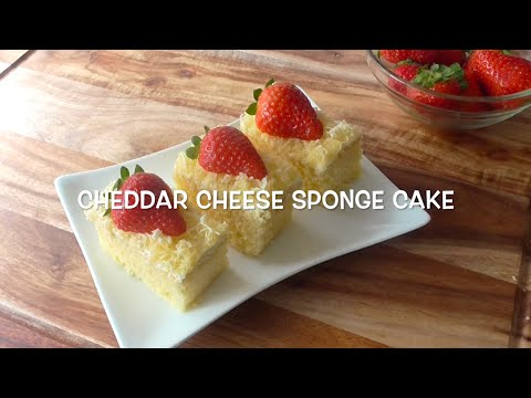 How to make cheddar chesse sponge cake / Resep Bolu Keju Cheddar
