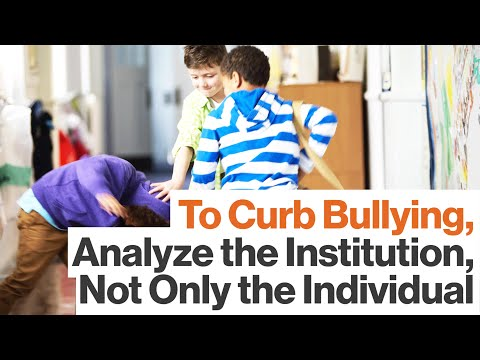 School Bullying: Are We Taking the Wrong Approach?