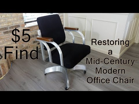 Repairing & Restoring a Mid-Century Modern Office Chair - Found for $5