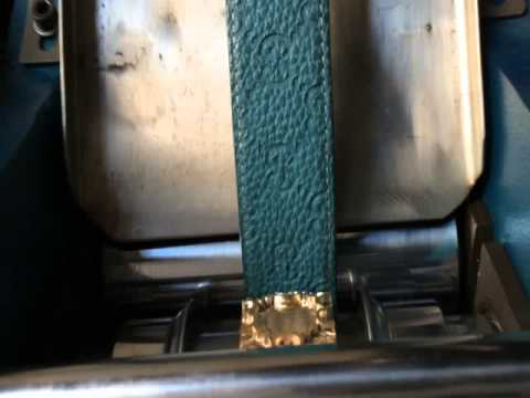 Leather belt embossing machine by roller