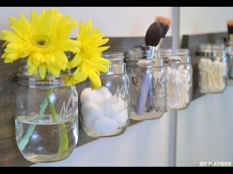 How to DIY a Mason Jar Organizer