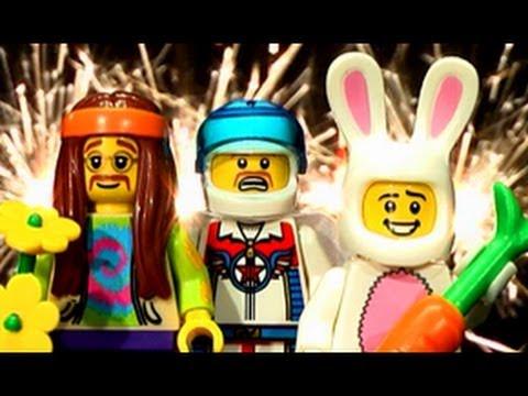 LEGO Minifigures Series 7 Train Wreck Pyro Edit