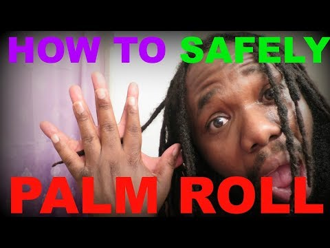 HOW TO PALM ROLL DREADLOCKS SAFELY - how to palm roll without putting tension on your scalp