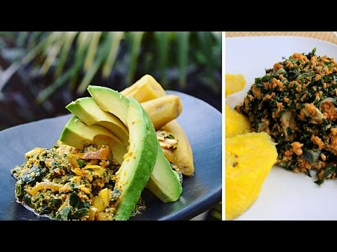 How To Prepare Spinach Stew | Ghanaian Dish (AMPESI)