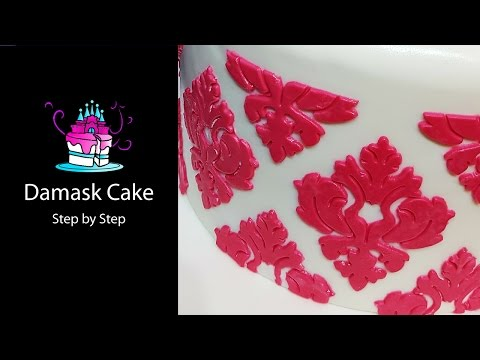Damask Cake Tutorial - Step By Step