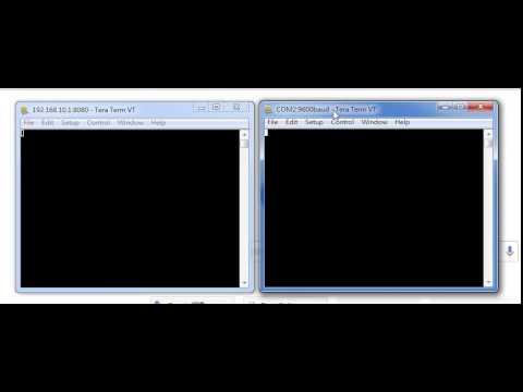 WiFi RS-232 COM port and TCP Socket communication test