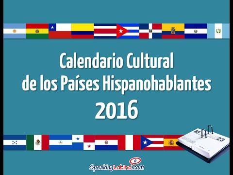 2016 Cultural Calendar for Spanish Teachers