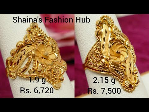 Latest Light weight gold Finger ring design with weight and price