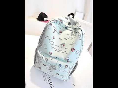 Clean canvas backpack bag.avi