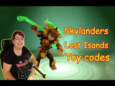 Skylanders Lost island: Figure codes