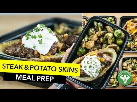 Meal Prep - Quick Steak & Potato Skins / Bistec Flanco con Patata Rellena