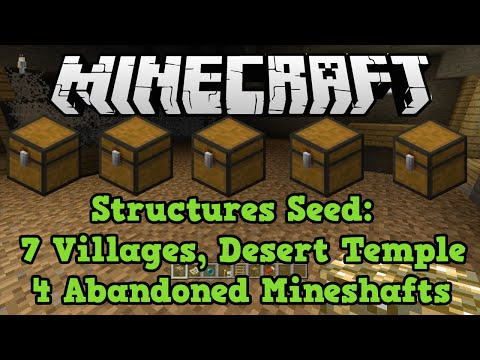 Minecraft Xbox + PS3 + PS4 Seed: 7 NPC Villages + 4 Abandoned Mineshafts