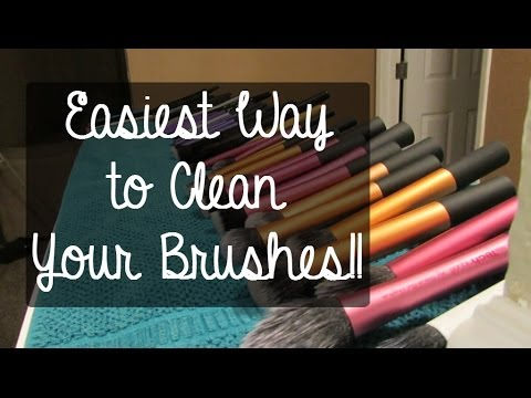 BEST way to clean your makeup brushes! | TheBeautyBeginners