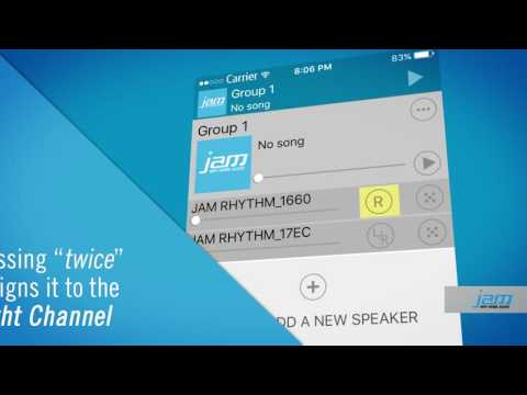 Assigning Left and Right Channels for JAM WiFi Home Audio Speakers