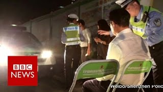 Chinese unusual motoring penalty in Shenzhen - BBC News