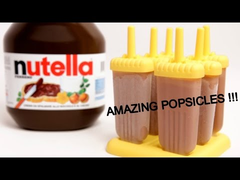 HOW TO MAKE EASY CHOCOLICIOUS NUTELLA POPSICLES !!!!