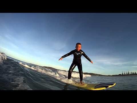 Flynn surfing @ Omaha beach
