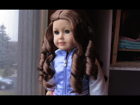 How to curl your american girl dolls hair! *easier*
