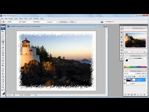 Photoshop tutorials | How to create photo frame in photoshop