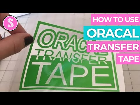 Using Oracal Transfer Tape with Oracal Vinyl 631, 641, 651, 751