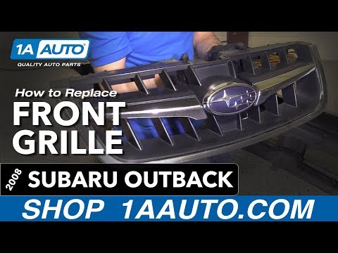 How to Remove Install Front Grille 08 Subaru Outback